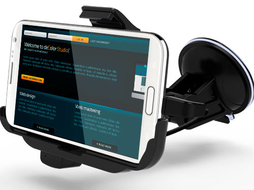 PDA Держатель KiDiGi Car Mount Samsung GT-N7100 Galaxy Note II horizontal (CM2C-SGN2)